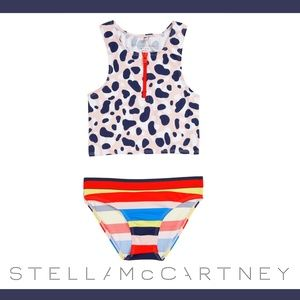 NWT Stella McCartney Kids Camo Two-Piece Swimsuit